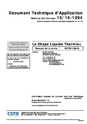 Avis Technique / DTA THERMIO®+ (PDF)
